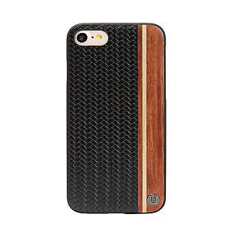 iPhone 8/7 Case Micro Weave Design Hard Shell Black