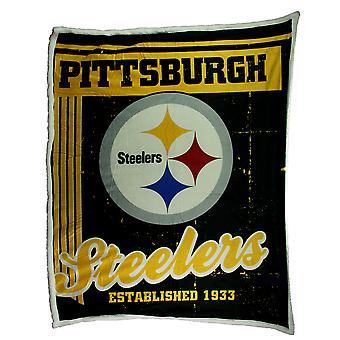Питтсбург Стилерз супер мягкие шерпа стиль броска одеяло