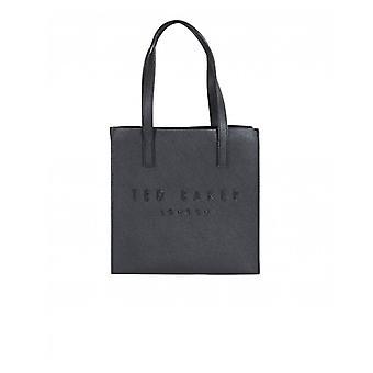 Ted Baker crosshatch stor logo typ ikon väska