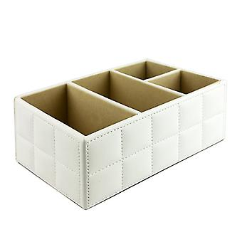PU Leather organizing box, white