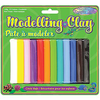 Modeling Clay 150 Grams Pkg 12 Colors Kc510