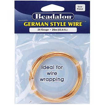 Style allemand ronde fil 26 Gauge 65,6 pieds Pkg or 180 a 026