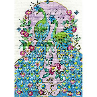 Peacocks Counted Cross Stitch Kit-8