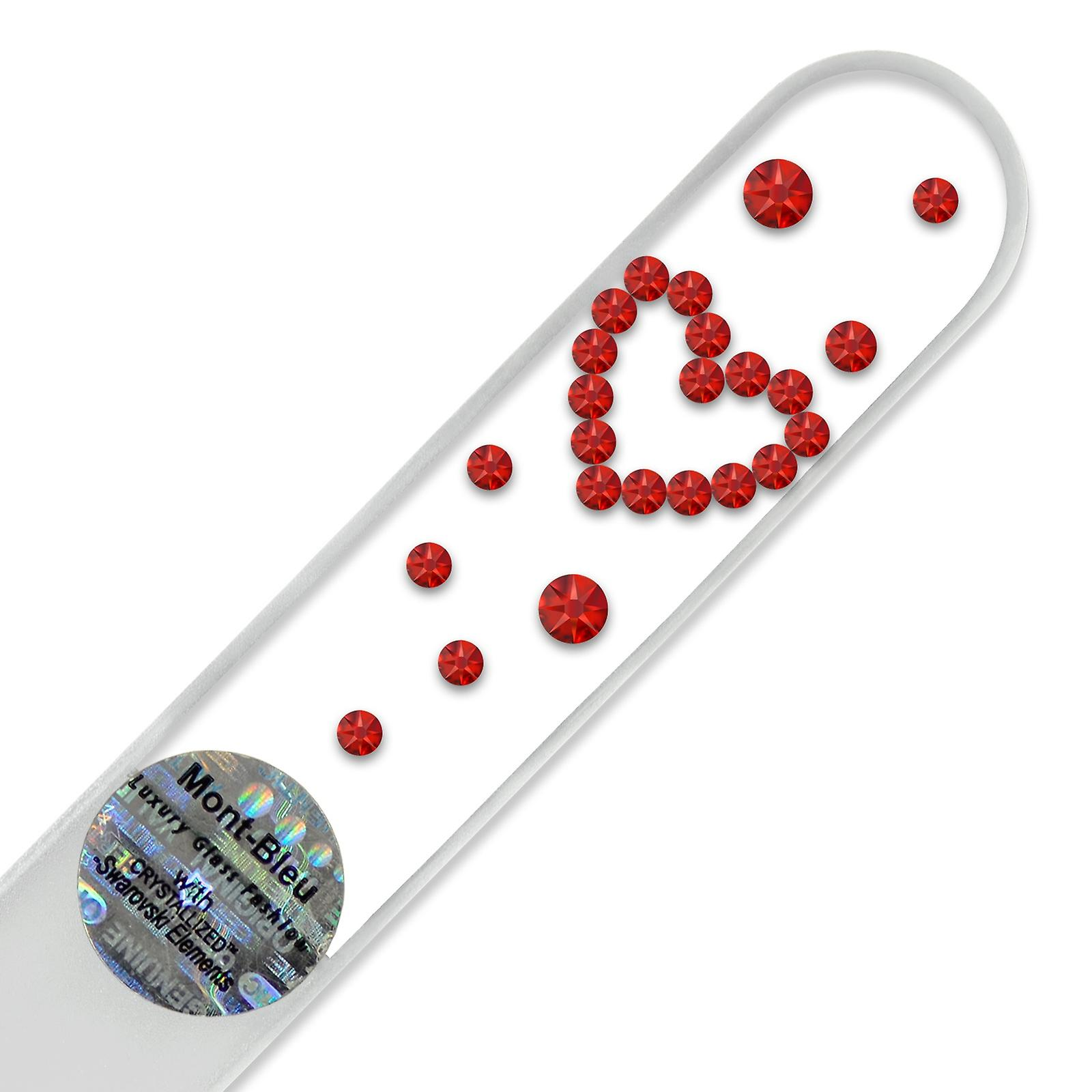 Heart Crystal nail file D-M2