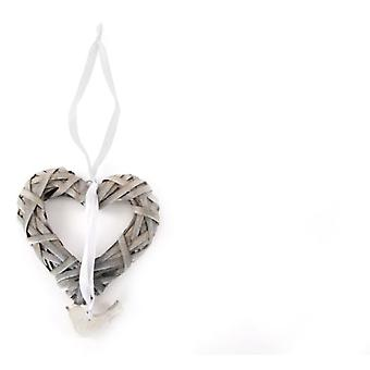 Item International Hang Pajaro Wicker heart (Decoration , Christmas , Tree ornaments)