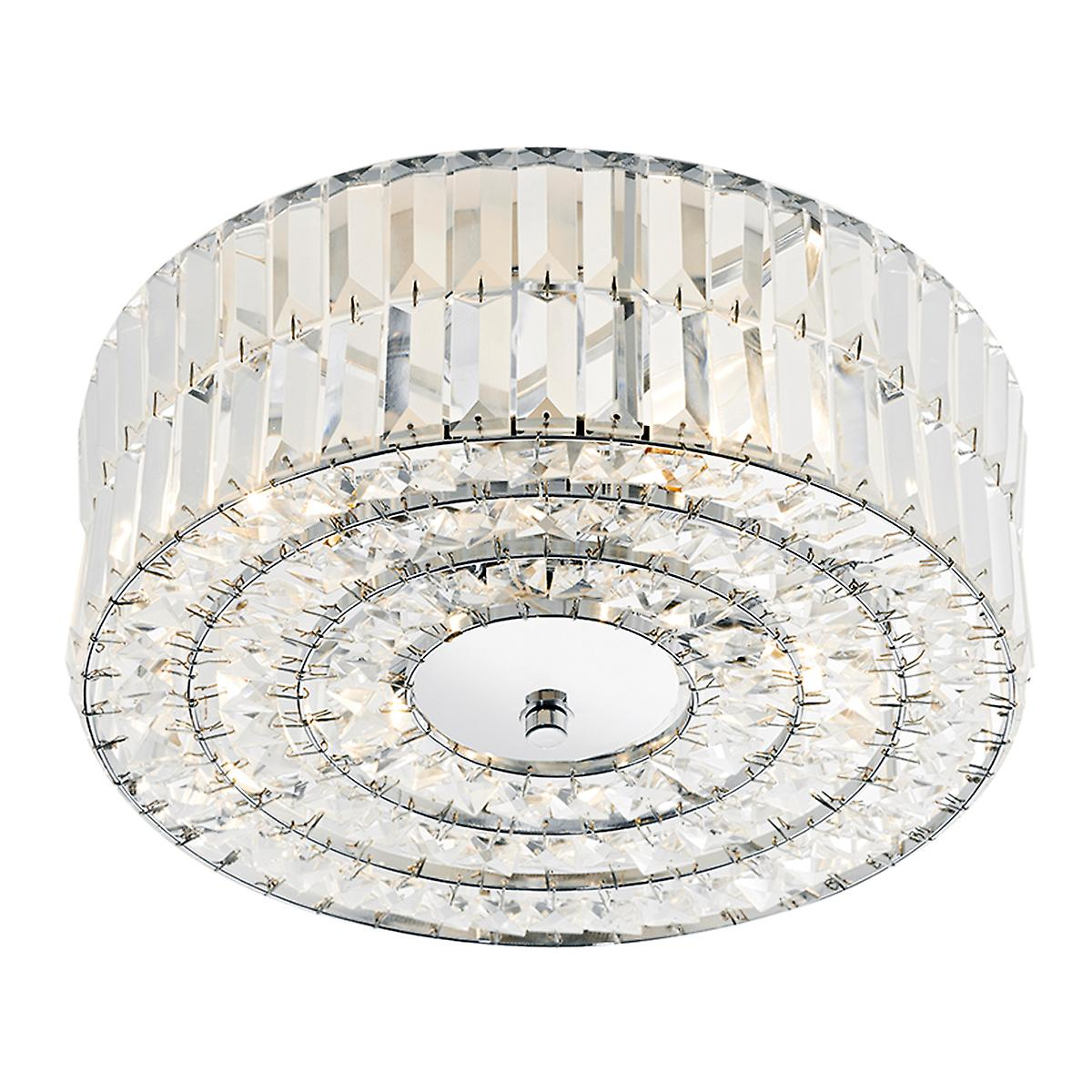 Dar ERR5250 Errol Contemporary Crystal Semi-Flush Ceiling Light