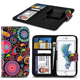 i-Tronixs Huawei G Play Mini Case PU Leather Jellyfish Printed Design Pattern Wallet Clamp Style Spring Skin Cover- Jelly Fish