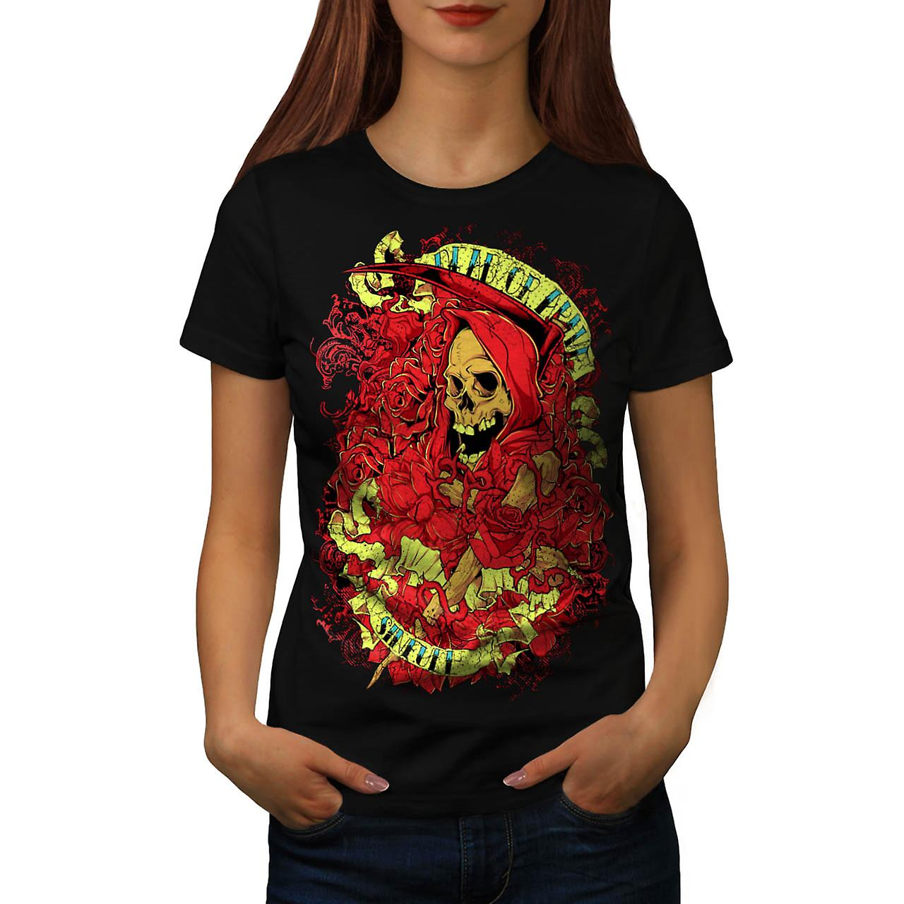 Dead Or Alive Sinfull Death Robe Women Black T-shirt | Wellcoda