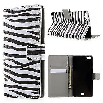 Zebra PU leather cover for Kiritkumar Highway Pure 4 g