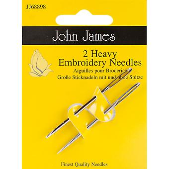 Heavy Embroidery Hand Needles-Size 14 2/Pkg JJ68898