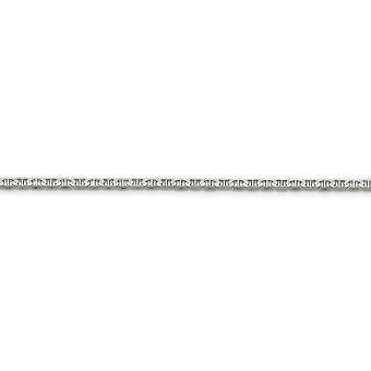 14 k wit goud 3mm concaaf anker ketting - kreeft-klauw - ketenlengte: 16 tot 24