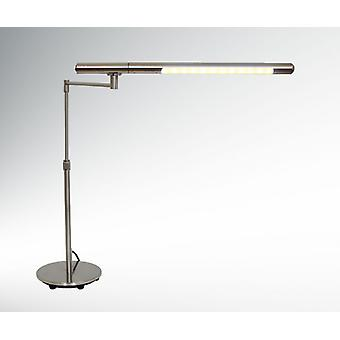 LED table lamp of big Benni T warm white satin 6 W nickel 10447