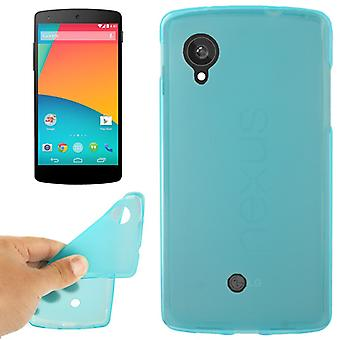 Protective case for cell phone LG Google nexus 5 / E980 blue / turquoise