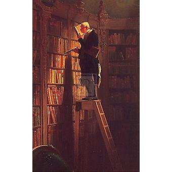 The Bookworm Poster Print by Carl Spitzweg (10 x 12)