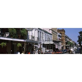 Edificios en una ciudad francesa cuarto Nueva Orleans Luisiana ESTADOS UNIDOS cartel imprimir