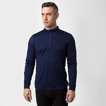 Navy Peter Storm Men's Long Sleeve Zip Neck Thermal T-Shirt