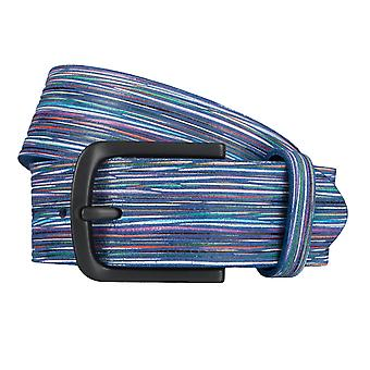 ALBERTO stripy Golf belt mens belt leather belt blue 3944