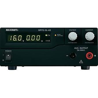 Bench PSU (adjustable voltage) VOLTCRAFT DPPS-16-40 1 - 16 Vdc 0 - 40 A 640 W USB programmable No. of outputs 1 x
