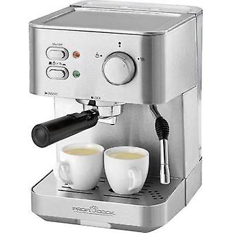 Espresso maker Profi Cook PC-ES 1109 Stainless steel, Black 1050 W incl. cup warmer