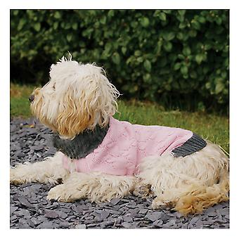 Pet Clothing Pink Knit/fur Collar Sweater Extra Large 60cm