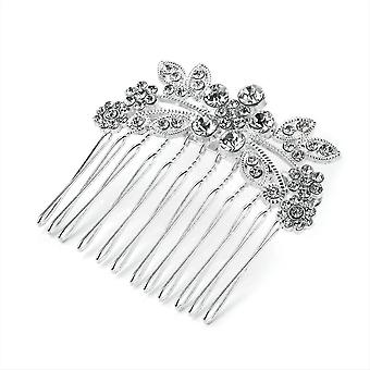 Elegant Crystal Silver Colour Metal 5cm Hair Comb Wedding Prom Party