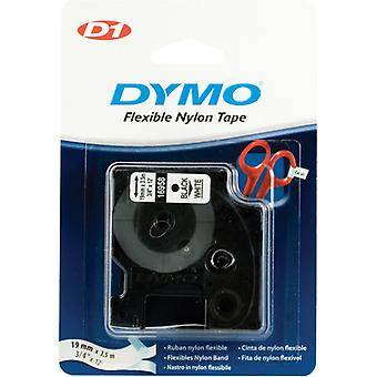 DYMO D1 tapes flex nylon 19 mm, black and white, 3.5 m roll