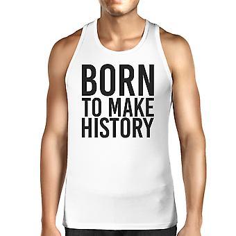 Born To Make history Mens White  Sleeveless Tanks Yuri On Ice Quote