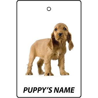 Personalised Cocker Spaniel Puppy Car Air Freshener