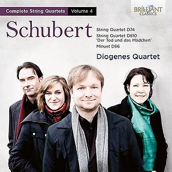 Diogenes Quartet - Diogenes Quartet: Vol. 4-Schubert: String Quartets [CD] USA import