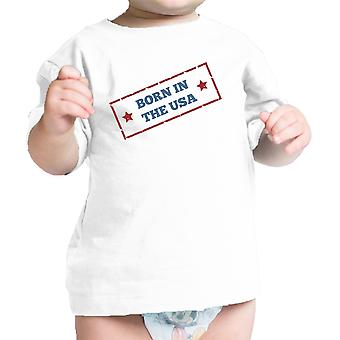 Born In The USA White Unique July 4 Baby Shirt Cotton Graphic Tee
