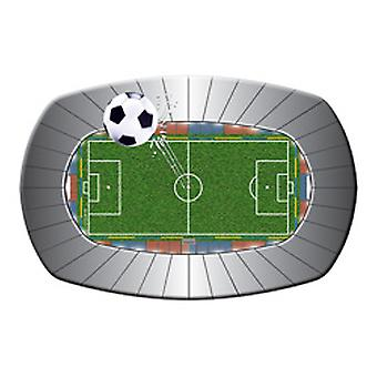 Football party plate Stadium soccer 8 St. birthday decoration football party plate