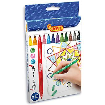 Jovi Estuche 12 Rotuladores Doble Punta (Toys , School Zone , Drawing And Color)