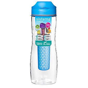 Sistema Tritan Obst Infuser Flasche 800ml blau