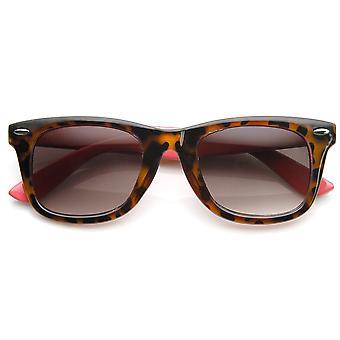 Classic Two-Tone Tortoise Havana Basic Horn Rimmed Sunglasses