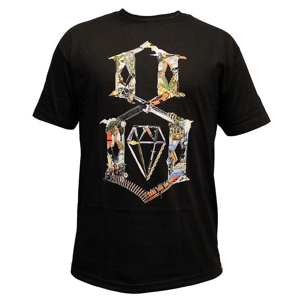Rebel8 Logo Collage T-shirt Black