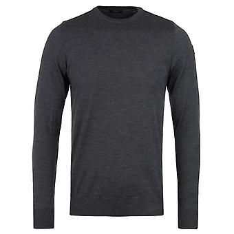 Paul & Shark Knitted Wool Charcoal Crew Neck Sweater