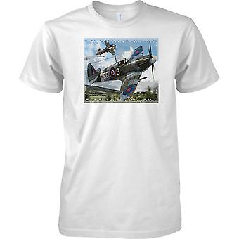 Supermarine Spitfire MKXII - ME109 Dogfight WW2 Fighter Aircraft - Kids T Shirt