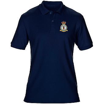 RAF Central Band broderad Logo - officiell Royal Air Force Mens Polo Shirt