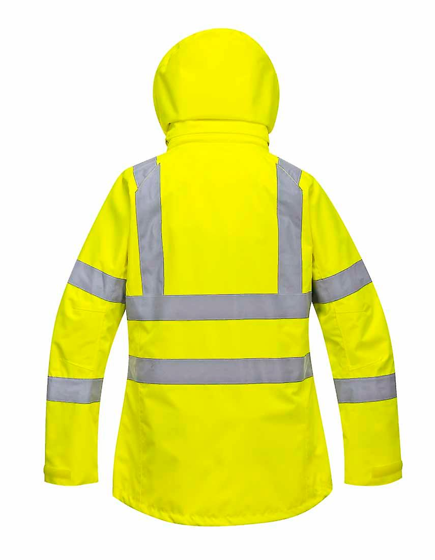 Portwest - Ladies Hi-Vis Safety Workwear Breathable Jacket With Hood