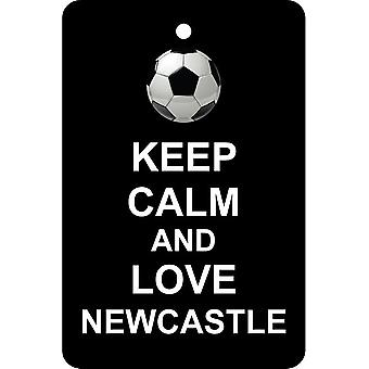 Keep Calm And Love Newcastle Car Air Freshener
