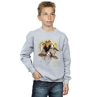 Star Wars Boys The Last Jedi Porgs Brushed Sweatshirt