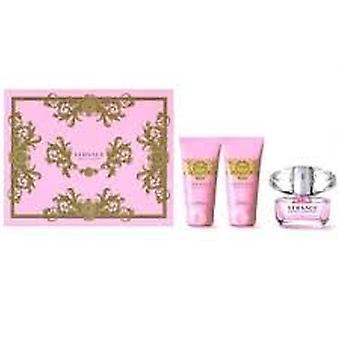 Set de regalo de cristal brillante de Versace EDT 50ml + Gel de ducha 50ml + 50ml Body Lotion