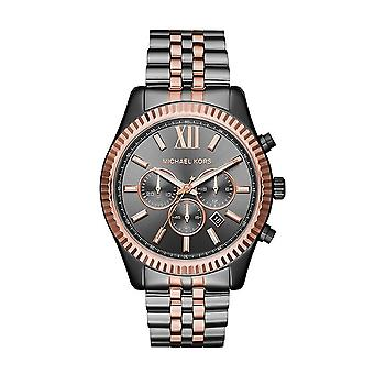 Michael Kors Watches Mk8561 Lexington Rose Gold & Gunmetal Stainless Steel Chronograph Men's Watch