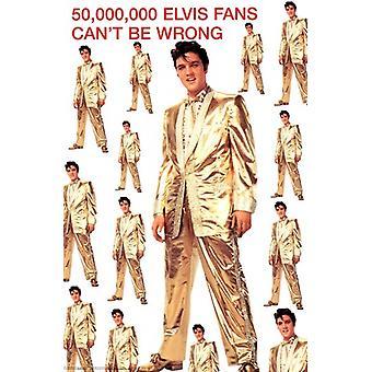 Elvis Presley - Gold Suit Poster Poster Print