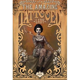 THE AMAZING TATTOOED LADY Poster Poster Print