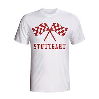Stuttgart Waving Flags T-shirt (wit)