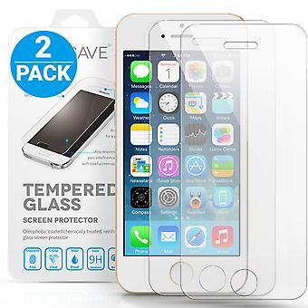 iPhone SE / 5s / 5c glas Skärmskydd - Twin Pack