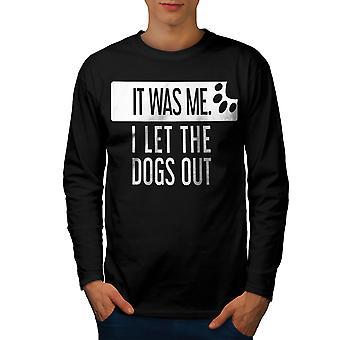 Deje que los perros a los hombres camiseta de manga BlackLong | Wellcoda