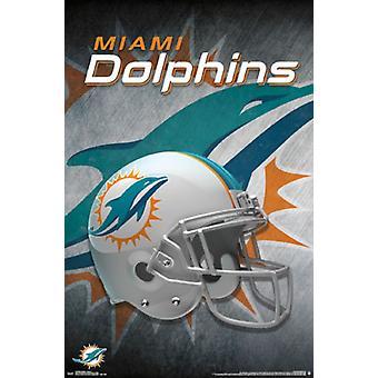 Miami Dolphins - Helmet 15 Poster Print