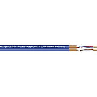 Microphone cable 2 x 2 x 0.22 mm² Blue Sommer Cable
